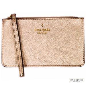 Kate Spade Rose Gold Wristlet